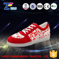 JLS0747 air hole lace-up shoes with led lights