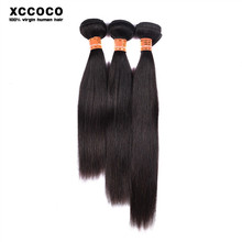 Drop Shipping Thick Bottom Straight Wave Indian Human Hair Weaving, Crochet Hair Extension