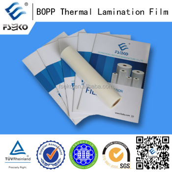chinese bopp film hot film/ thermal laminating films 21mic