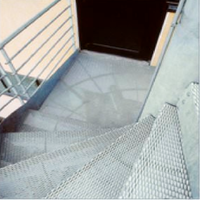 decorative modern metal mesh used for safety stair tread