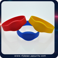 High temprature resistant Bracelet 125KHz id tk4100 Chip RFID Silicone Wristband
