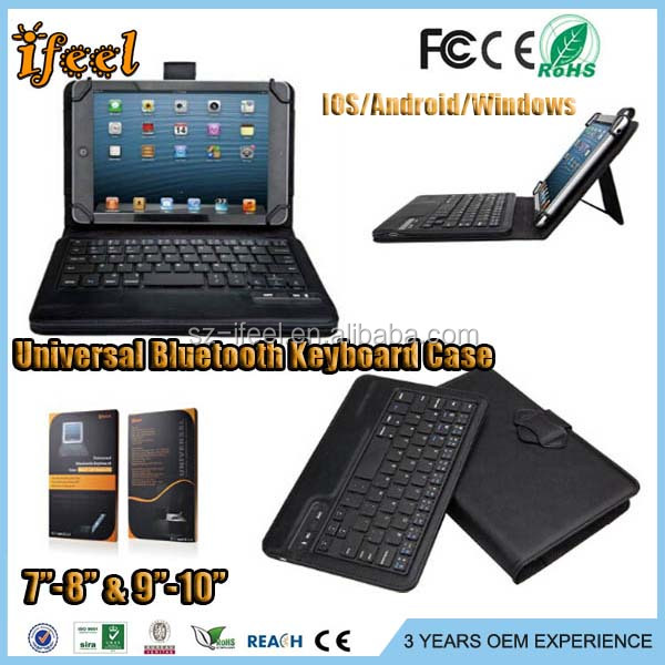 bluetooth keyboard case for ipad,10.1 tablet leather case with keyboard,9.7 tablet keyboard universal case