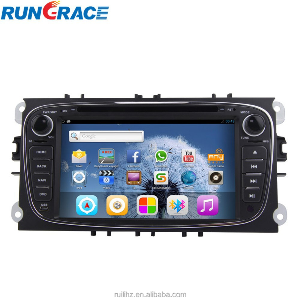 ford mondeo android 4.2.2 car dvd player with wifi navigation