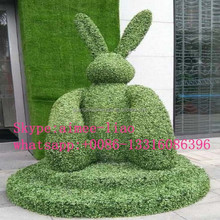 Q020205 high simulation artificial grass animal party decoration rabbit animal topiary artificial animal