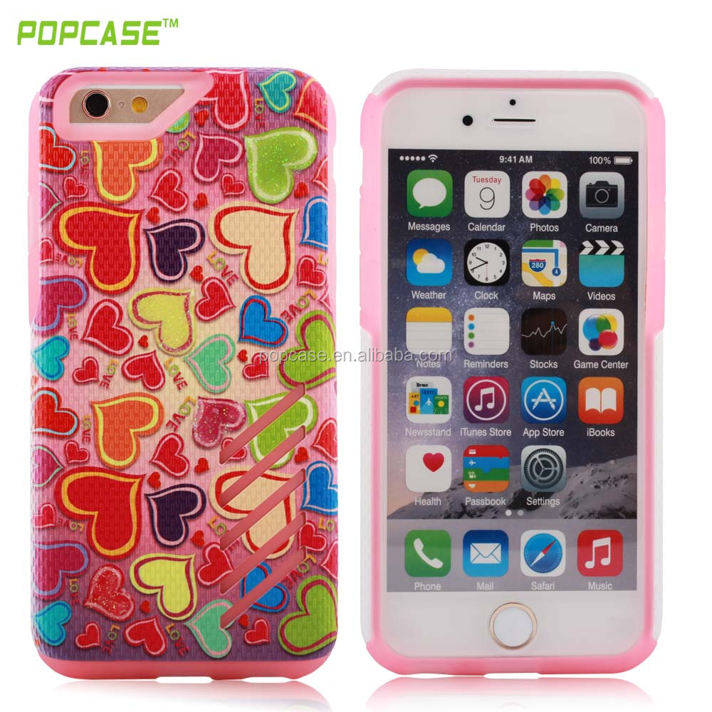 high quality Full protective separate easy PC+SILICONE phone case