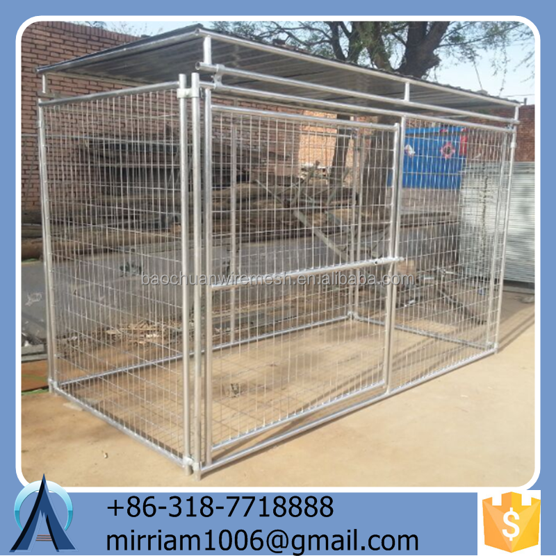 Durable and Eco-friendly Anping Baochuan Easy assemble wrought iron dog kennels/pet cages