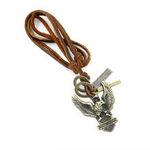 Charming leather PU parrot necklace accessories