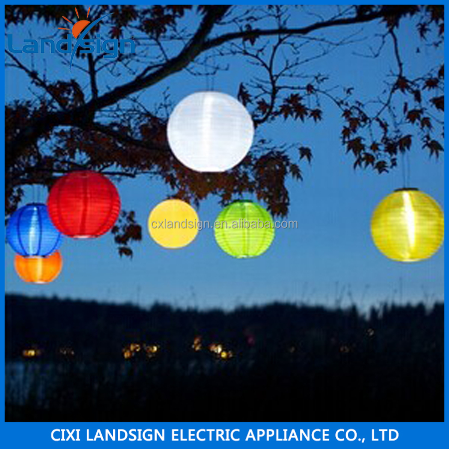 LED hanging light pure garden outdoor solar chinese lanterns