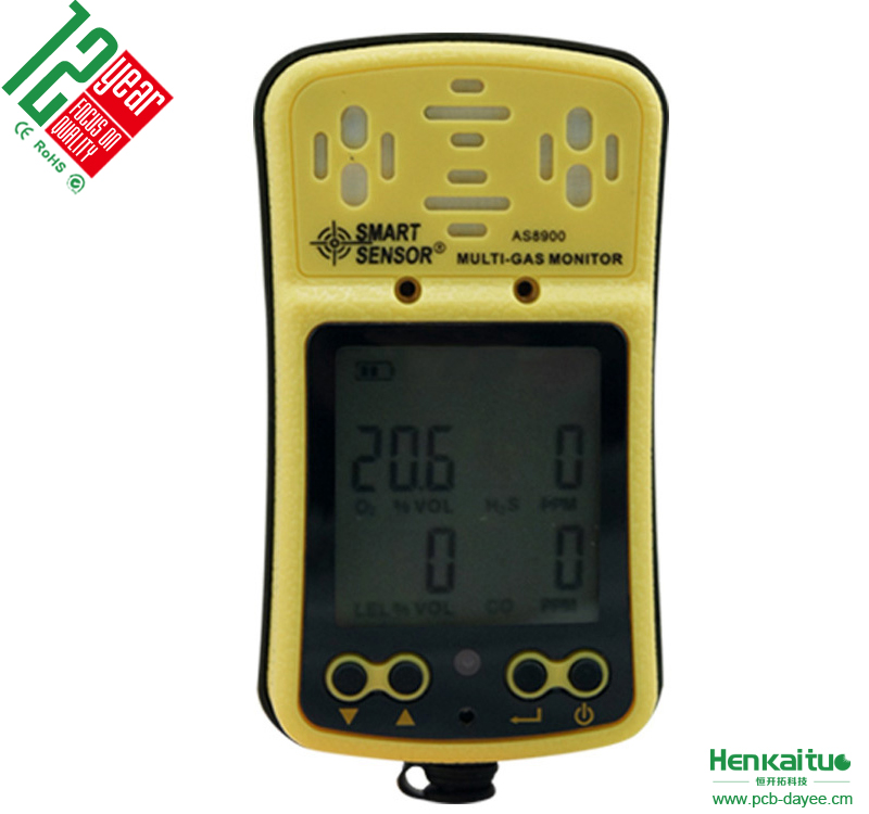 Smart Sensor AS8900 Multi <strong>Gas</strong> detector Combustible <strong>Gas</strong> Meter Oxygen Detector H2S Monitor Carbon Monoxide Detector