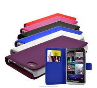 PU Leather Wallet Flip Case Cover For Blackberry Z30