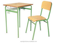 CT-320 college desk and chair/ single desk and chair standard classroom desk and chair