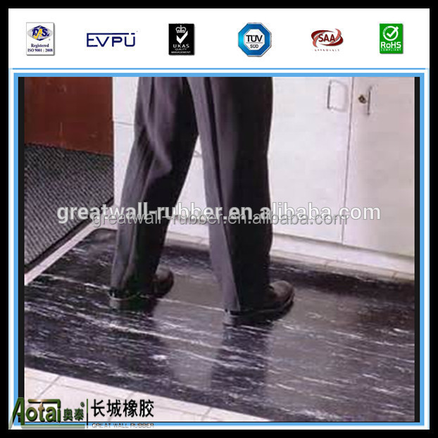 Great Wall marblesied rubber matting 4mpa 1.45g/cm3 back surface fabric finish