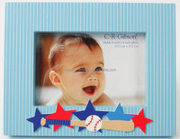 "Unique lovely baby star wood photo fame with 4x6"" photo"