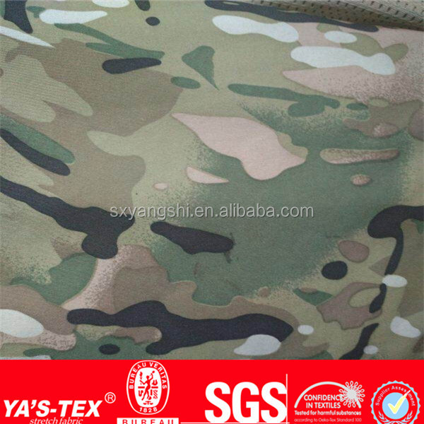 camo Print Soft Shell Fabric with TPU Membrane fabric for military coat
