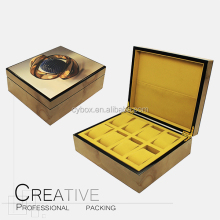8 Slots Glossy Lacquered Wood Grain Watch Boxes