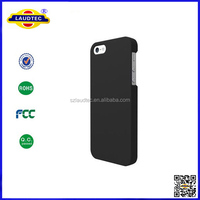 Black Ultra-Thin Matte Rubberized Slim Hard Back Shell Case for Apple iPhone 5 5S