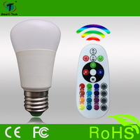 3w high brightness and energy saving color changing bulb with 24 key ir remote control