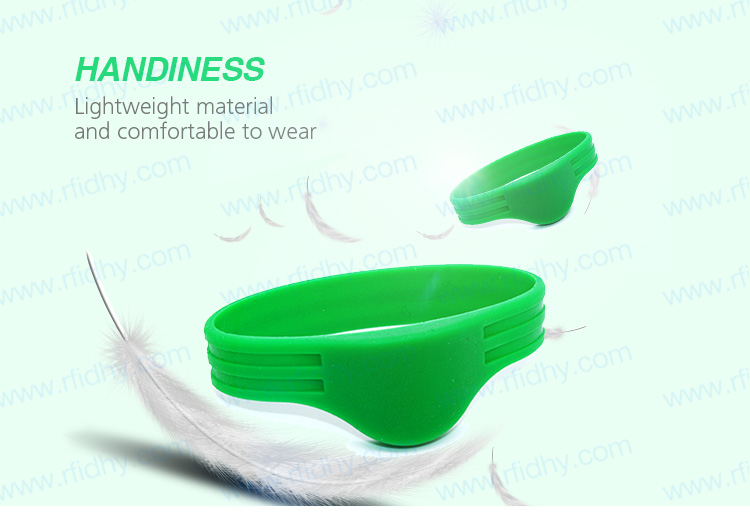 HYWGJ10 Newest Design RFID Bracelet Custom Color RFID Silicone Wristbands NTAG213 Rewearable RFID Wristbands