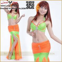 Wholesale Lover Bird Excellent Tribal Belly Dance Costumes Women 2/3 pcs Set Brazil Carnival Costumes Dance wear Sexy Tribal Bel