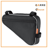 420D Nylon bike top tube front saddle frame pouch triangle cycling bicycle frame bag