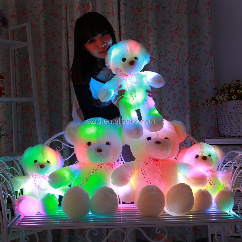 LED light up teddy bear/good quality teddy bear animal toy/plush led lamp beads