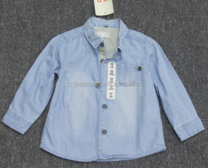GZY beautiful shirts lovely shirts kids denim shirt