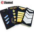 Cheap custom military uniform sew on embroidery navy epaulettes
