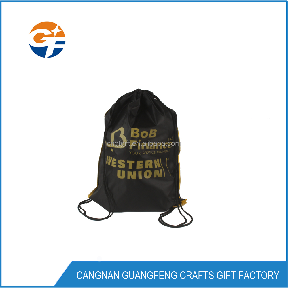 Cheap Waterproof Custom Printed Polyester Nylon Drawstring Bag With New Design