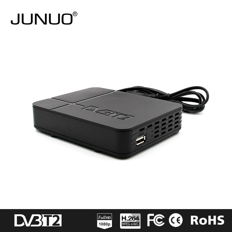JUNUO manufacture OEM good quality strong signal free channels tv decoder dvb-t2 south africa