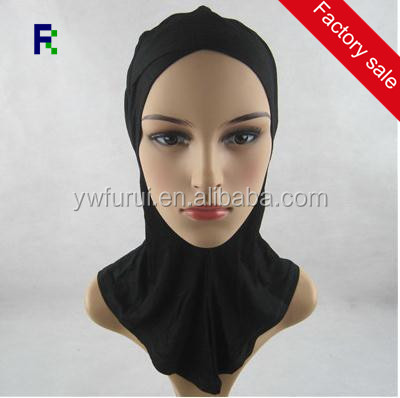 Fashion Elegant Scarf Jersey Criss Cross Ninja Amira Muslim Neck Plain Cotton Inner Hijab Cover Soft Bonnet