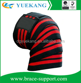 Elastic Knee Wraps for Crossfit Training, Gym Workout, Powerlifting, Fitness Knee Straps