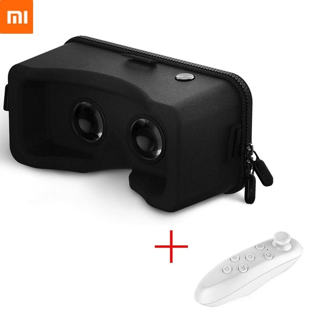 Xiaomi VR Mi VR Virtual Reality 3D Glasses Immersive Headset Cardboard With Game Controller for 4.7- 5.7 inches Smartphones