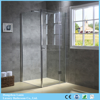 Luxury Bathroom Glass Shower Box With Stabilizer Bar