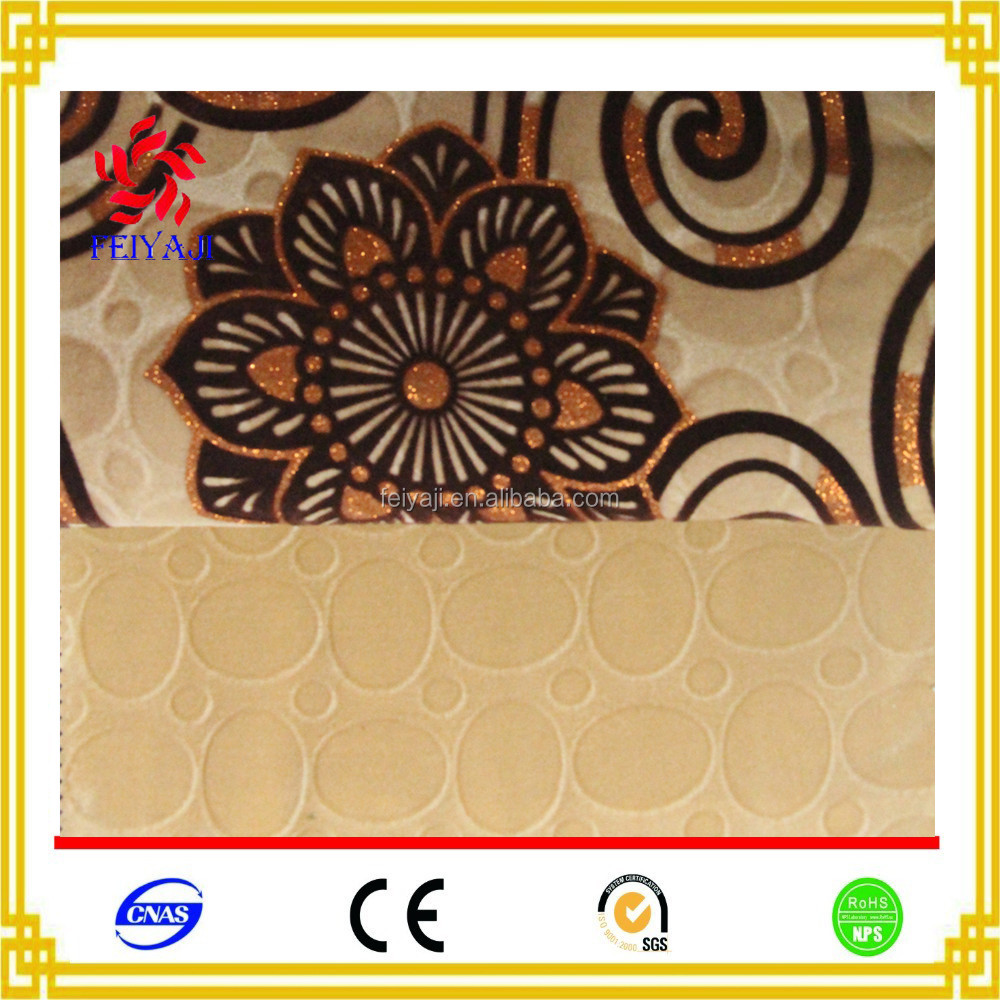 New Design Flower Pattern Flocked Chenille Fabric Textile For Sofa Set