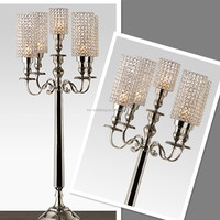 party crystal candelabra- wedding centerpiece- crystal candlestick with globe