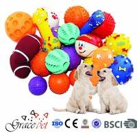 [Grace Pet] Squeaky Pet Toys funny rubber dog toy