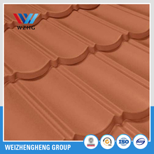galvanized steel stone cladded roofing sheet , metal roof tile