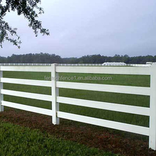 Strong UV Resistant PVC Flexible Horse Rail Fence