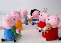 20cm 7.87inch Pig Family Plush Toy DADDY & MUMMY Pig & GEORGE Cartoon Animals Stuffed Doll Soft Kids Toys Valentine's Day Gift