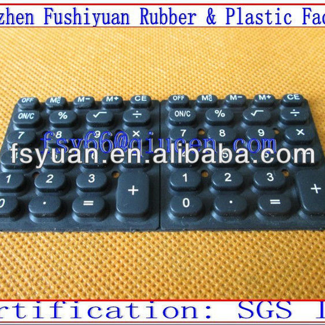 silicone computer keypads with conductive carbon pills spray laser back-lighted button electric calculator keypads