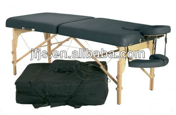 wooden portable massage table