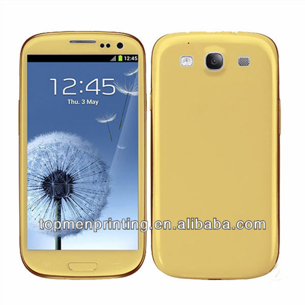 HOT~!the material is actually golden color skin sticker for samsung galaxy s3,factory wholesale price