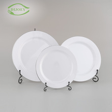Best price one time use dishes modern different shapes plastic cheap white dinner plates for restaurant