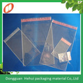 crystal clear opp bag with self adhesive tape and strengthenning dot line