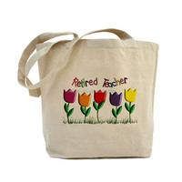 Natural eco organic 100% cotton canvas carry shopping bag