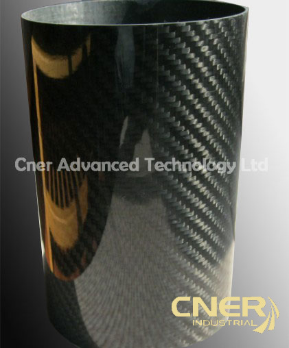 3k glossy matte finish carbon fiber tube used in yacht