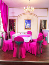 2017Wholesale lycra hotel wedding pink cheap spandex chair cover