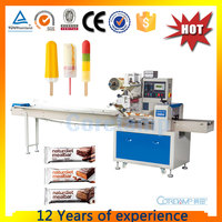 Automatic ice cream bars wrapping machine