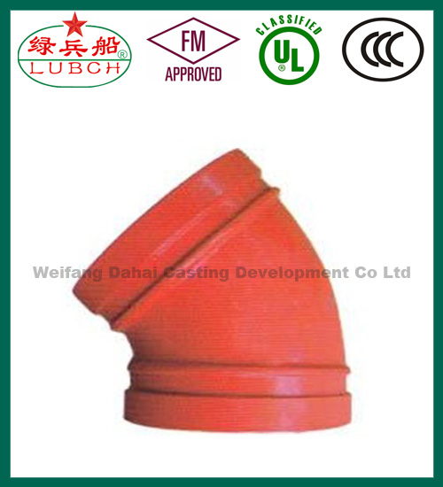FM UL ULC ductile iron pipe fitting fittings hdpe fire water pipe