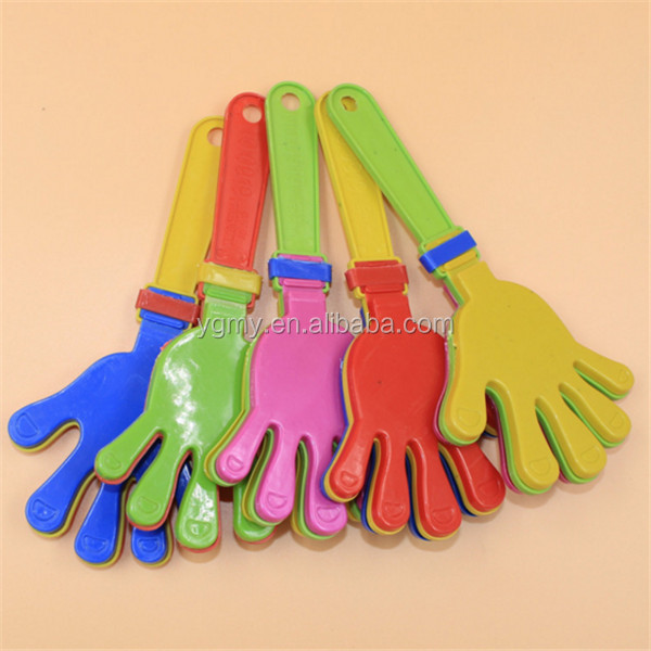 Plastic Hand clapper clap toy cheer leading clap for Olympic game football game Noise Maker